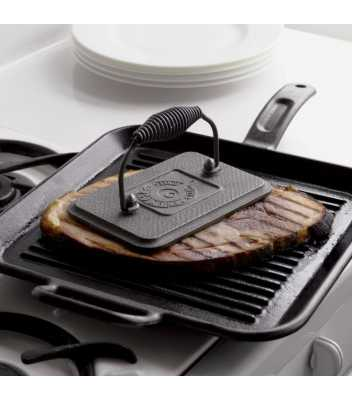 Чугунная сковорода-гриль LODGE 30 см, квадратная, для стейков 4970 руб. купить в интернет-магазине SkovorodkaClub.ru