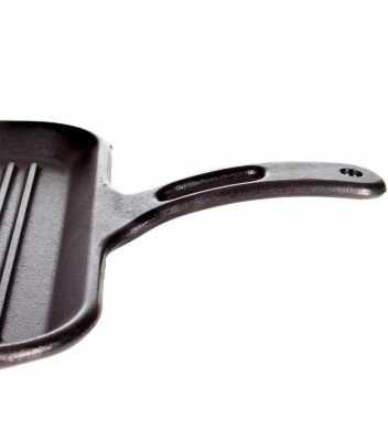 Чугунная сковорода-гриль, 30 см, с прессом 6870 руб. купить в интернет-магазине SkovorodkaClub.ru