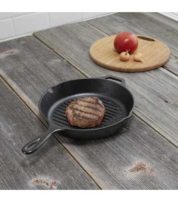 Сковорода гриль круглая, 26 см, с прессом 6390 руб. купить в интернет-магазине SkovorodkaClub.ru