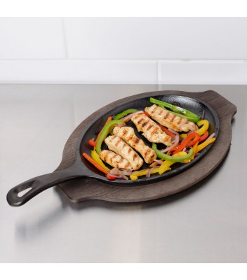 Сковорода порционная, 25 см, овальная, с одной ручкой 1870 руб. купить в интернет-магазине SkovorodkaClub.ru