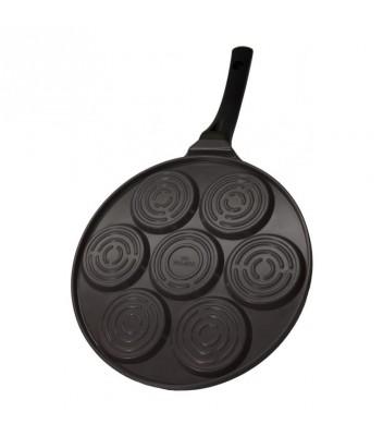 Сковорода для оладий Смайлики, 26,5 см, с бакелитовой ручкой, черная 2670 руб. купить в интернет-магазине SkovorodkaClub.ru
